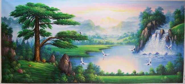 100% Handmade Museum Quality Landscape Oil Painting